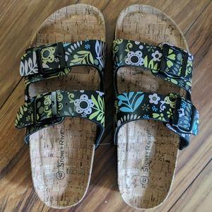 Stone River floral sandals.